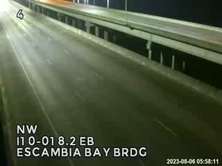 I-10 Escambia Bay Bridge looking East